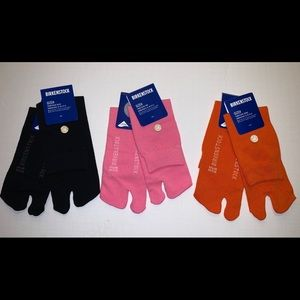 3 pair of Gizeh Birkenstock socks, toe